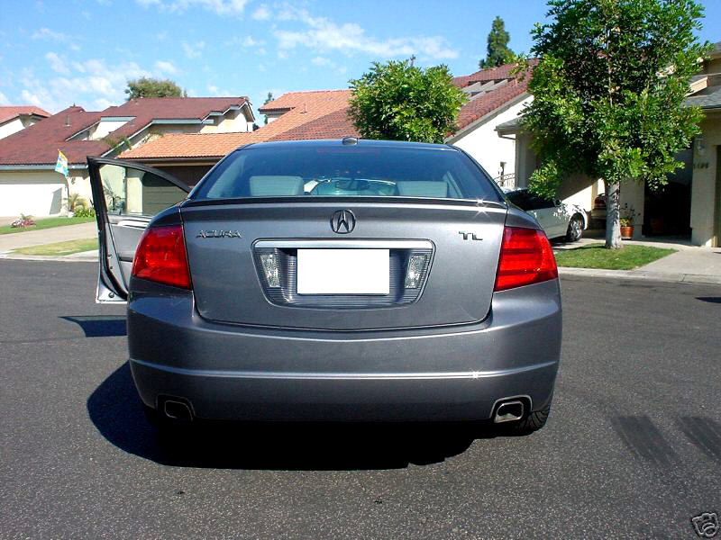 usa painted trunk lip spoiler 04 08 acura tl white diamond. Black Bedroom Furniture Sets. Home Design Ideas