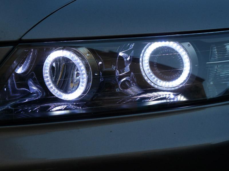 07 08 acura tl white led x4 angel eye halo ring oem Universal Wiring Harness Kit Wiring Harness Kit for Z32