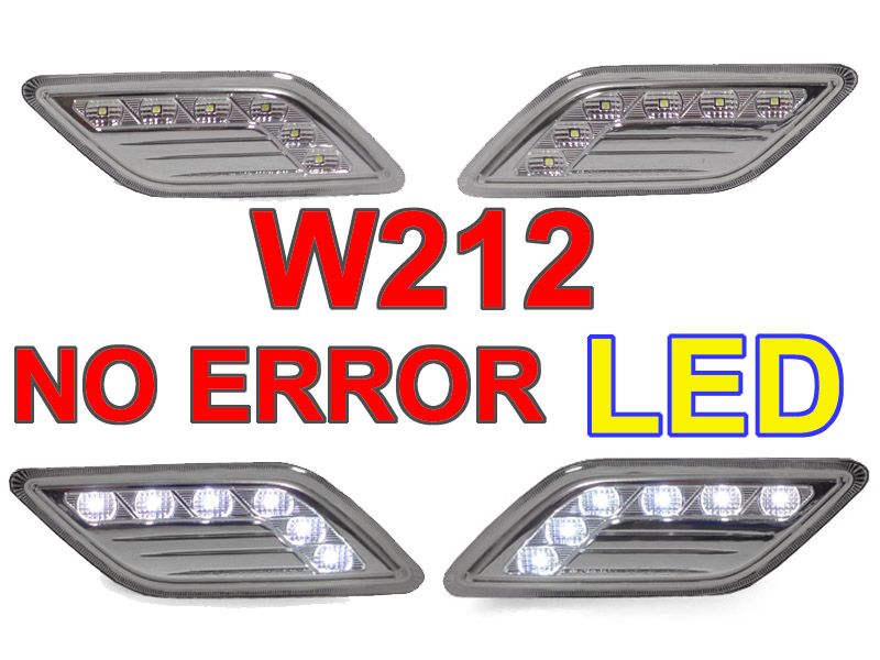 Sell Depo 2010 13 Mercedes W212 4d White Led Clear Bumper