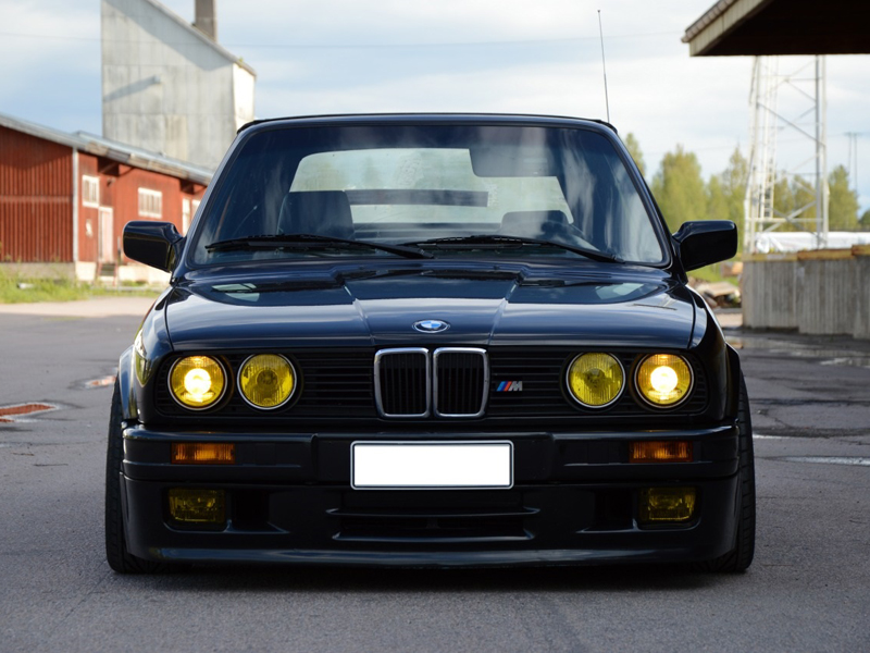 french yellow glass lens 84 91 bmw e30 euro smiley. Black Bedroom Furniture Sets. Home Design Ideas