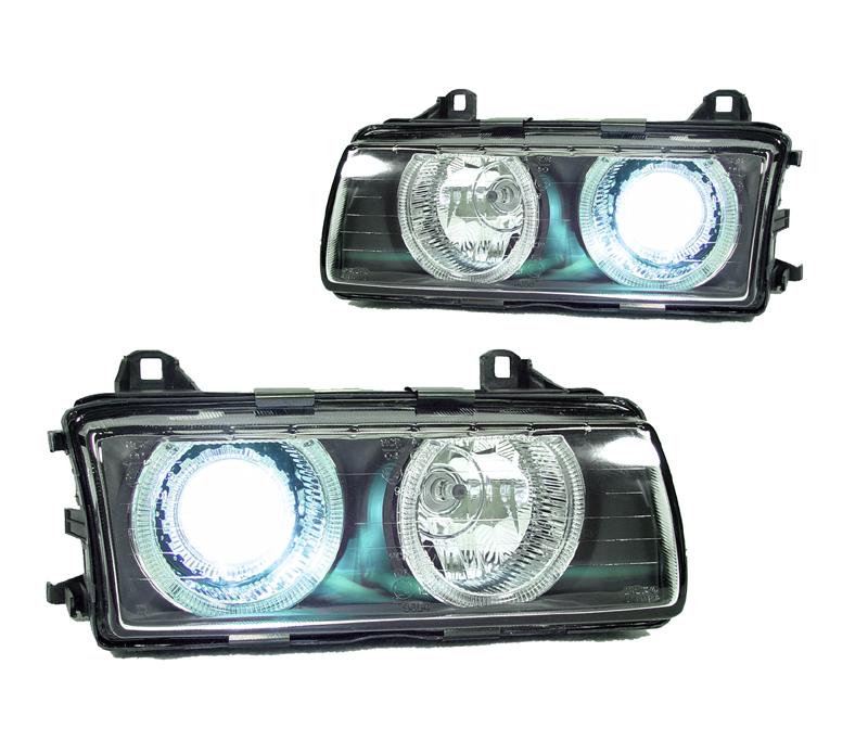 Bmw Xenon Headlights: DEPO USA BMW E36 Glass Angel Eye Halo D2S XENON HID