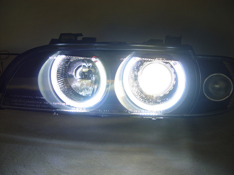 bmw e39 m5 uhp led angel halo d2s xenon headlights hid bulb ballast ebay. Black Bedroom Furniture Sets. Home Design Ideas