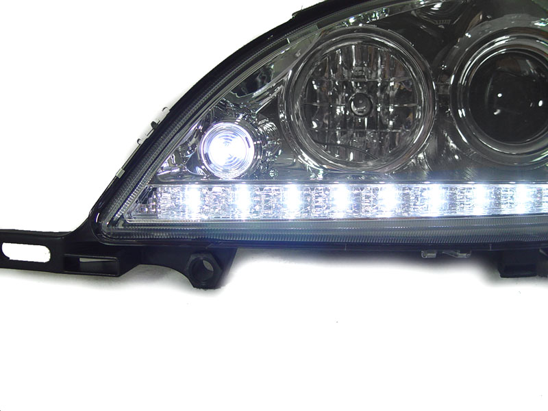 Led strip 98 01 mercedes w163 ml class bi xenon projector for Mercedes benz headlight bulb