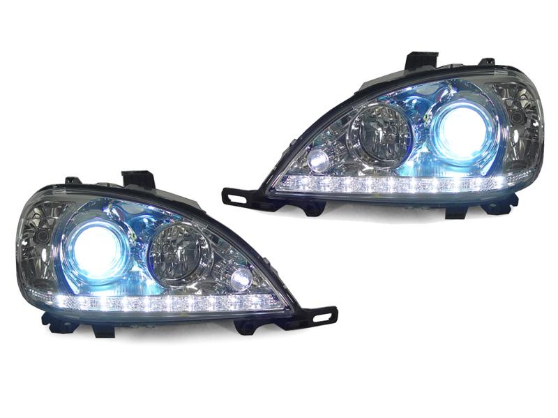 Led strip 98 01 mercedes w163 ml class bi xenon projector for Mercedes benz xenon headlights