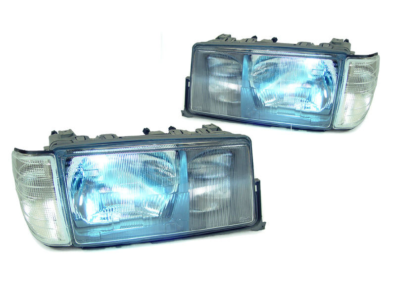83 94 mercedes w201 bi xenon hid euro glass headlight for Mercedes benz 190e headlights