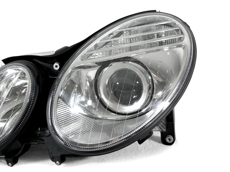 2003 2006 mercedes w211 e320 e350 e500 xenon headlights ebay for Mercedes benz headlight lens