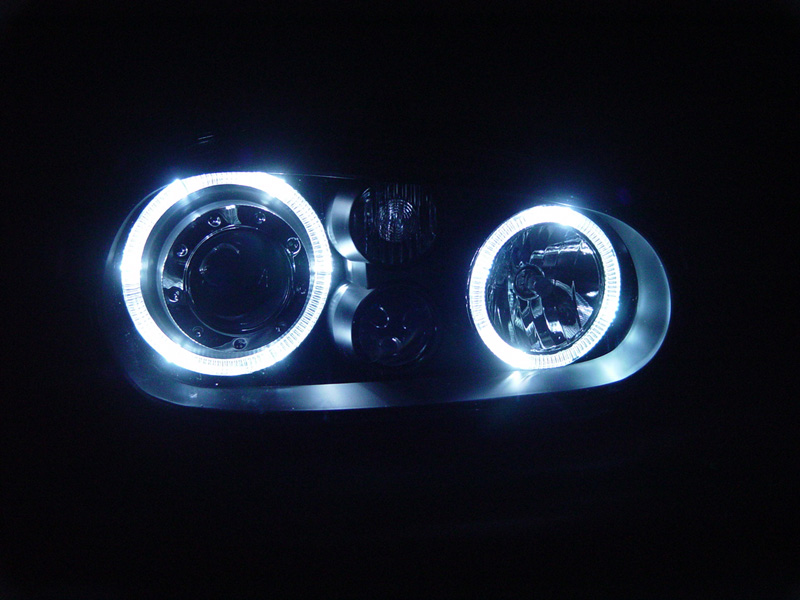 Depo 99 05 Vw Golf 4 Gti White Led Halo R32 Black