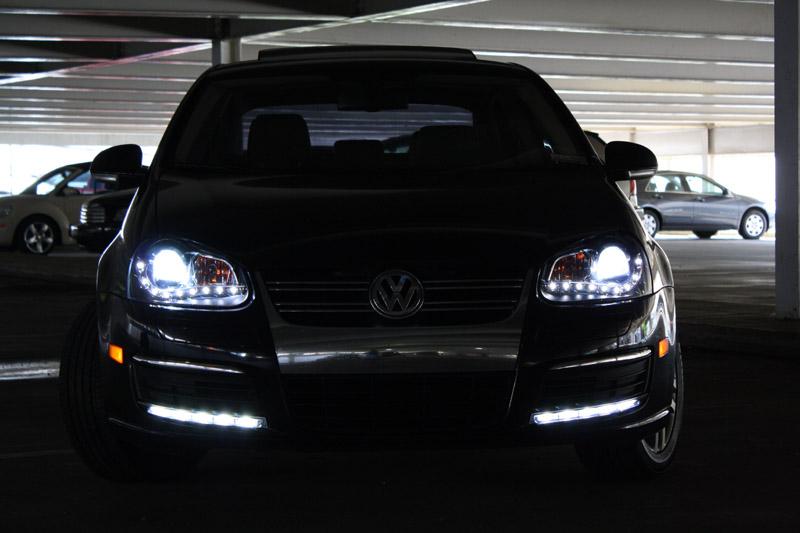 DEPO R8 DRL LED PROJECTOR BLACK HEADLIGHT 05-10 VW JETTA GOLF GTI Mk.V 5/RABBIT   eBay