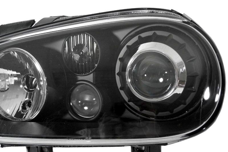 ecode vw golf 4 r32 xenon projector headlight black mk4. Black Bedroom Furniture Sets. Home Design Ideas
