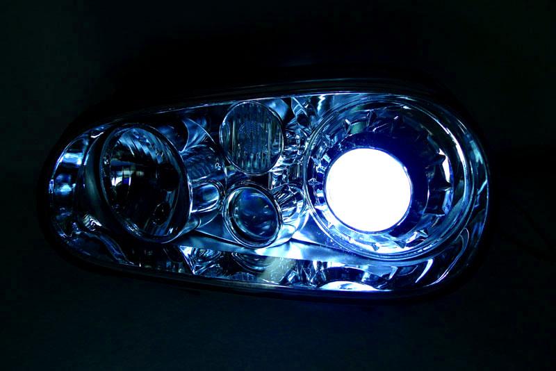 depo ecode 99 04 vw golf 4 r32 xenon hid chrome projector glass headlight mk iv. Black Bedroom Furniture Sets. Home Design Ideas