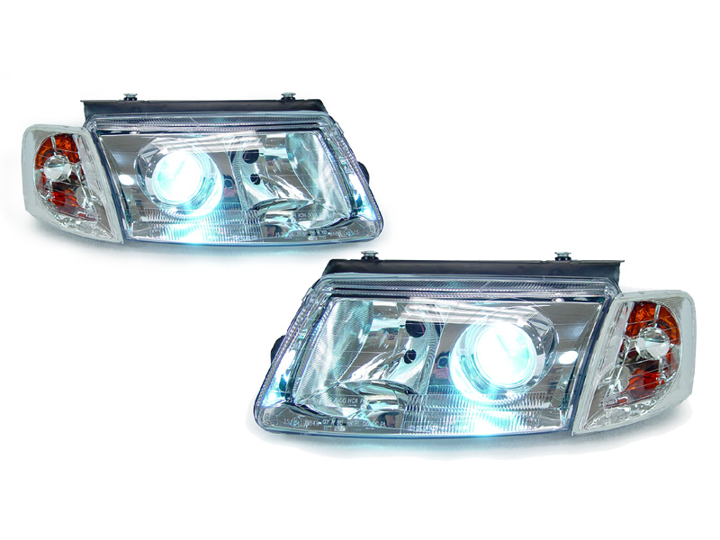 USA Depo 98 00 VW Passat B5 Chrome Projector Headlight Xenon HID Corner Light | eBay
