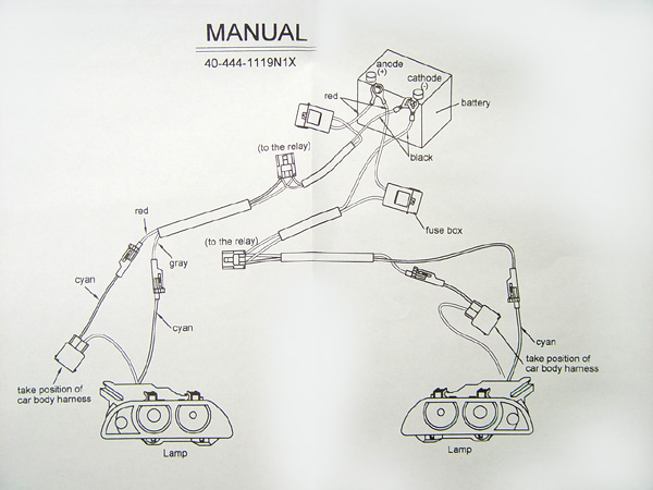 how to connect wire to angel eyes system c here is the diagram that the headlight manufacturer includes