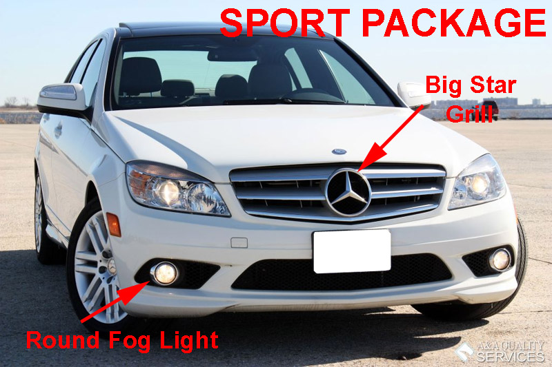 08 10 mercedes w204 c class amg sport bumper led daytime running drl fog light ebay. Black Bedroom Furniture Sets. Home Design Ideas