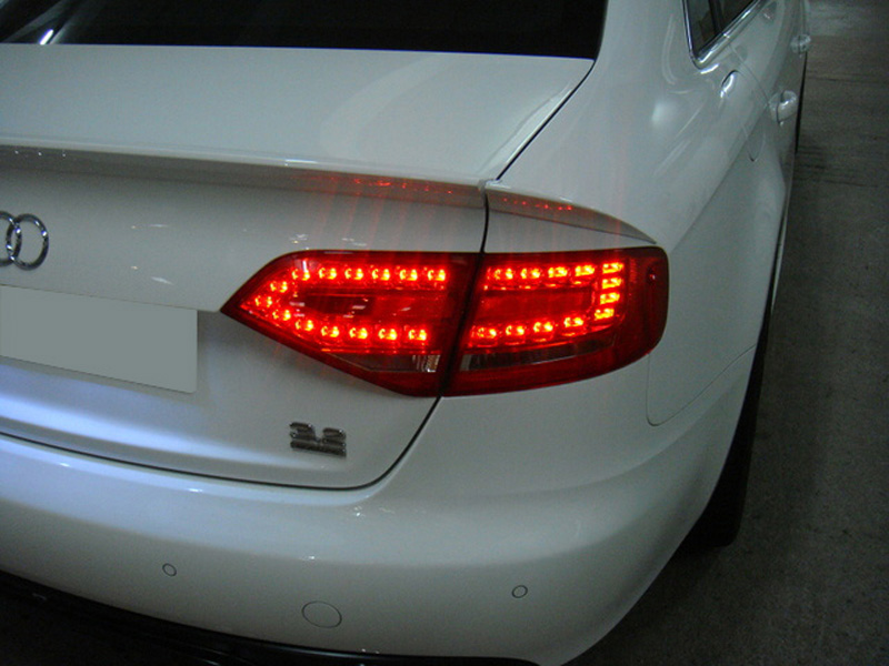 Depo Euro Spec Rs4 Look Led Red Clear Tail Light 09 12