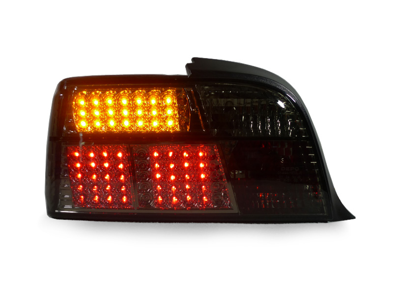 USA Depo 92 99 BMW E36 2D Coupe Convertible Euro Smoke LED Rear Tail Light M3