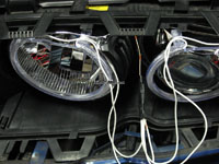 Diy guide ccfl angel eyes or ccfl pre installed headlight wrap the wire around the angel eye wires and tape it down with electrical tape now pull it through from the boot side see pictures below asfbconference2016 Choice Image
