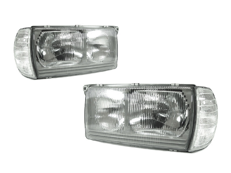Depo 77 85 mercedes benz w123 euro glass headlight corner for Mercedes benz headlight problems
