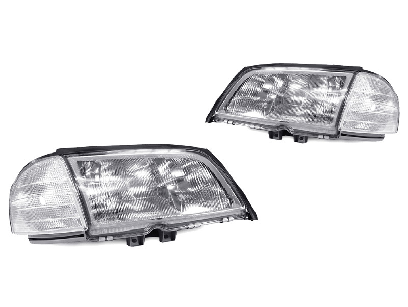 Buy usa depo 94 00 mercedes w202 c class euro glass for Mercedes benz headlight problems