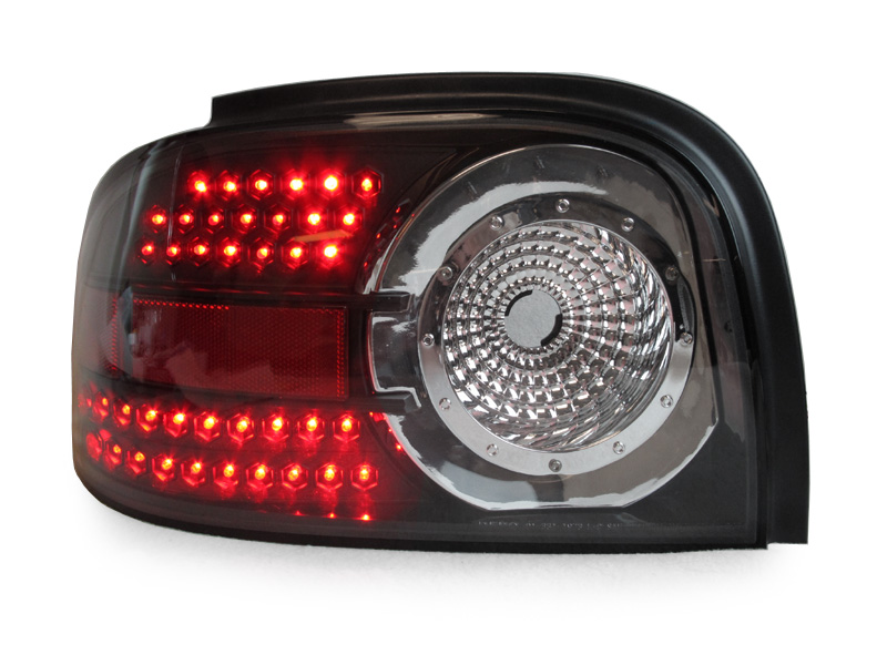 depo 96 98 ford mustang black altezza style led rear tail lights dot. Black Bedroom Furniture Sets. Home Design Ideas