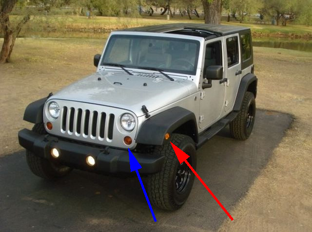 Depo 2007 2012 Jeep Wrangler Jk Clear Front Signal Lights