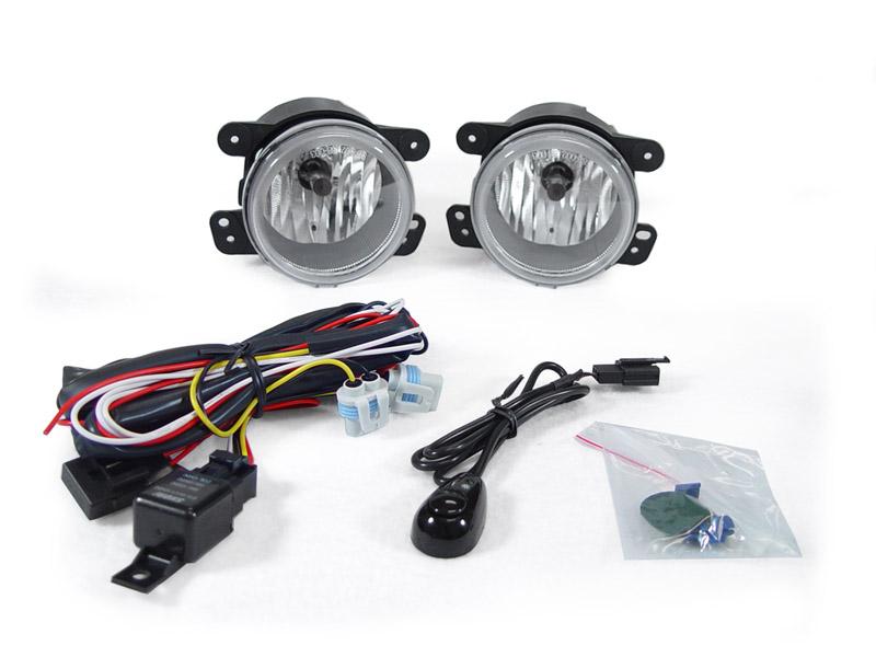 2007 2008 2009 jeep wrangler jk clear fog lights pair. Black Bedroom Furniture Sets. Home Design Ideas