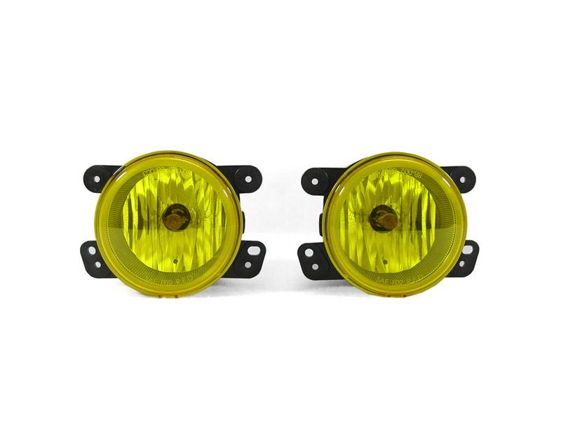 2007 2009 jeep wrangler jk direct fit yellow fog lights. Black Bedroom Furniture Sets. Home Design Ideas
