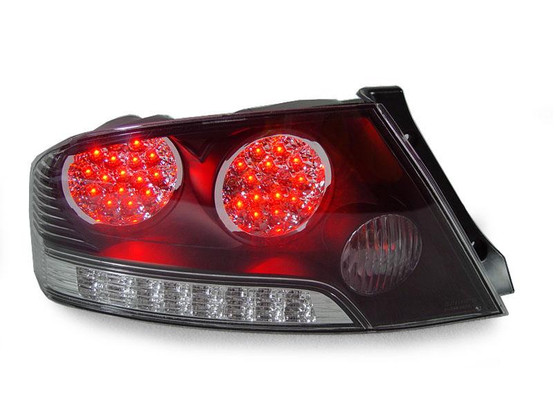 DEPO 03-06 MITSUBISHI LANCER EVO 8/9 BLACK/CLEAR LED TAIL LIGHT +LED SIDE MARKER