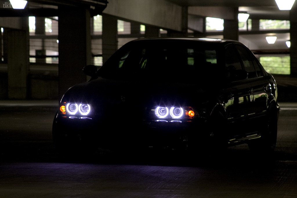 01 03 Bmw E39 Bright Uhp Led Angel Eyes Rings Clear Signal