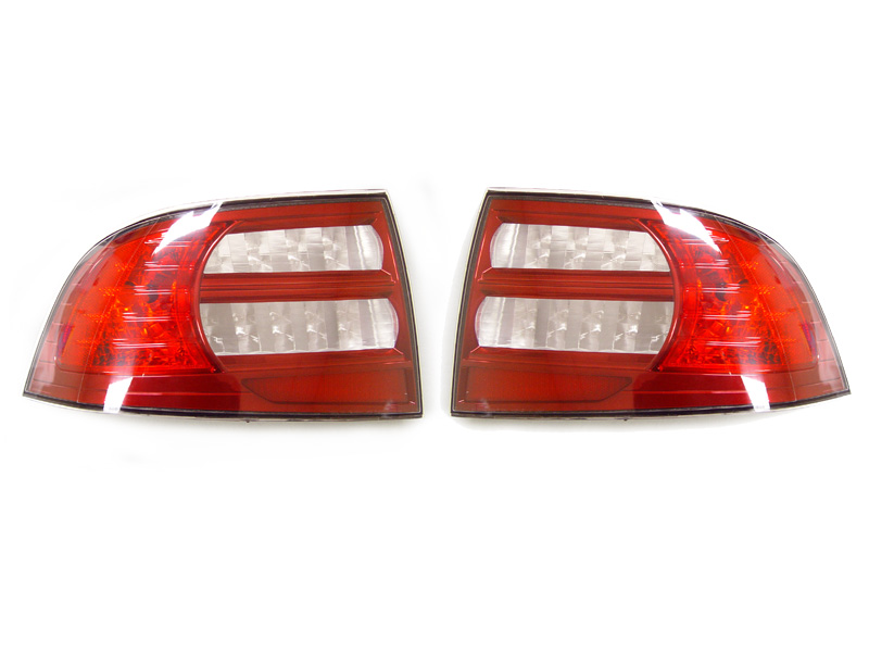2004 2008 Acura Tl Depo Red Clear Rear Tail Light Cover Set