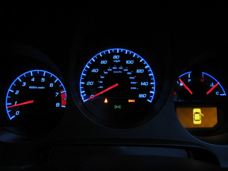2004-2006 Acura TL Type-S Style RED / Blue Glow Gauge For ...