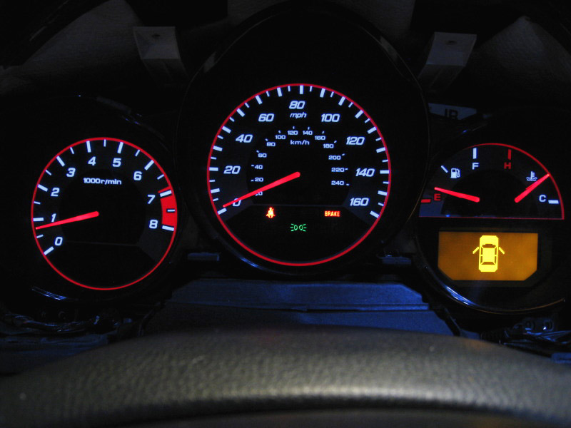 2004 2006 Acura Tl Type S Style Red Blue Glow Gauge For